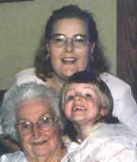 Jessica,Mommy and Great Gramma Lucy spring '98